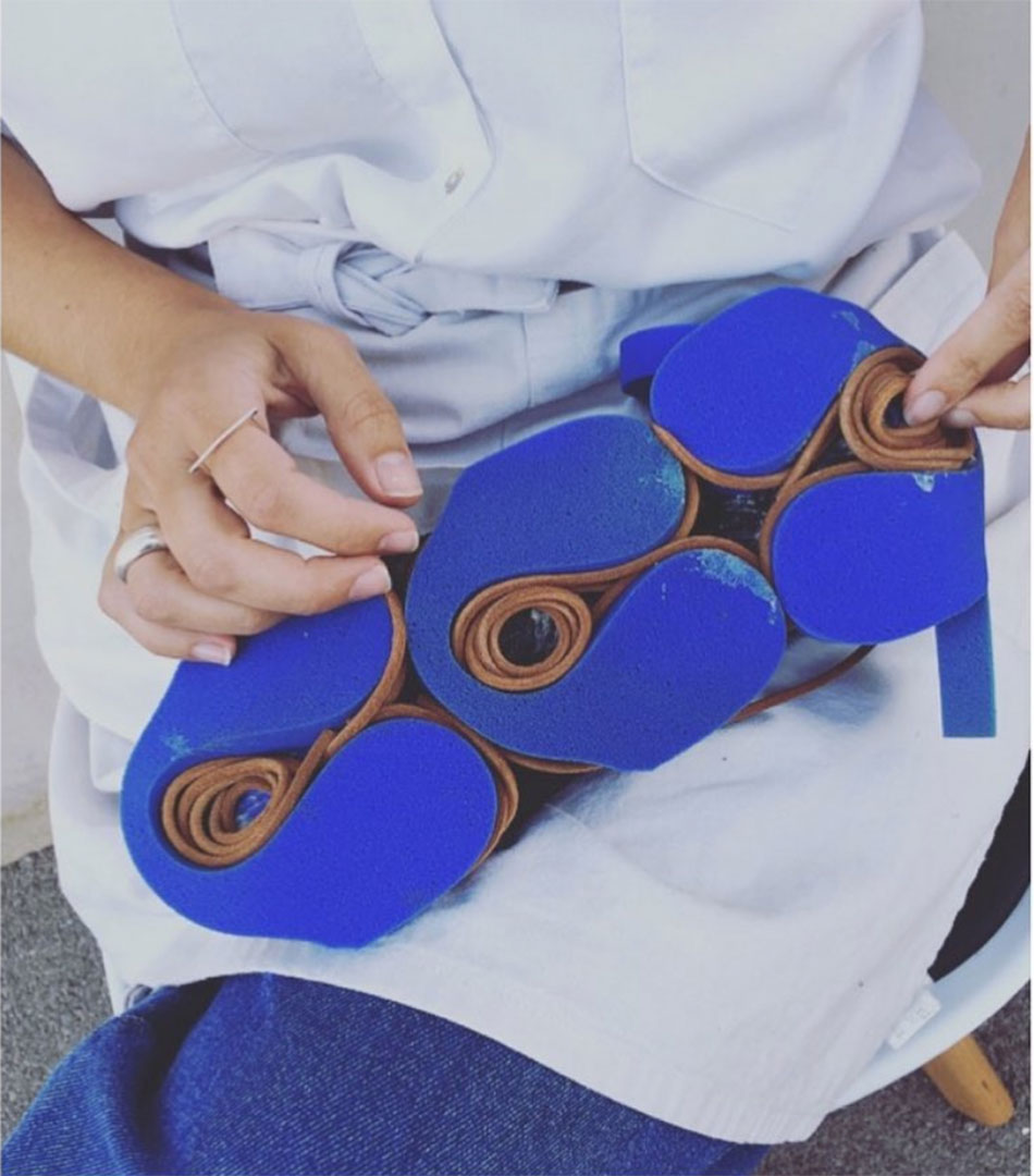 irene brotons diseñando calzado sostenible inspirado en henry matisse
